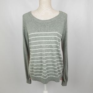 Gap brand size S long sleeve grey eith white strip